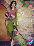 Bahni 9102-Pink and Green Color Cotton Designer Suit