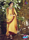 Bahni 9103-yellow and brown Color Cotton Designer Suit