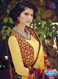 Bahni 9103-yellow and brown Color Cotton Designer Suit Online