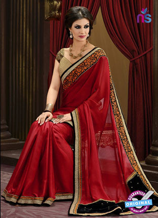 AZ 3287 Maroon Georgette Party Wear Saree