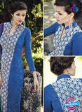 Bahni 9104-Blue and White Color Cotton Designer Suit