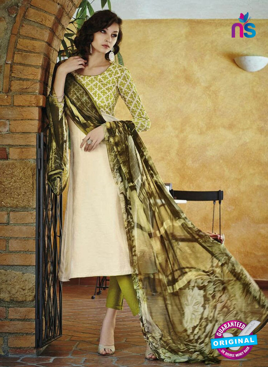 Bahni 9105-Beige and Green Color Cotton Designer Suit