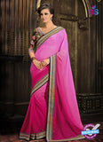 AZ 3289 Pink Georgette Party Wear Saree