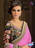 AZ 3289 Pink Georgette Party Wear Saree - Sarees - NEW SHOP