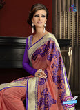 AZ 3292 Peach Georgette Party Wear Saree