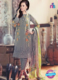 SC 13312 Gray Embroidered  Georgette Designer Suit