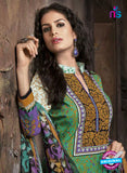 Kalakriti 910 Blue and Green Cotton Party Wear Suit