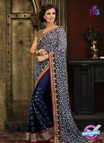 AZ 3294 Blue Georgette Party Wear Saree