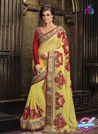 AZ 3300 Yellow Georgette Party Wear Saree
