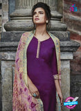 Bahni 9121 Purple Color Cotton Designer Suit