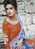 Bahni 9127 Orange & Blue Color Cotton Designer Suit