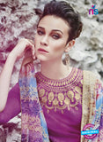 Bahni 9128 Purple Color Cotton Designer Suit