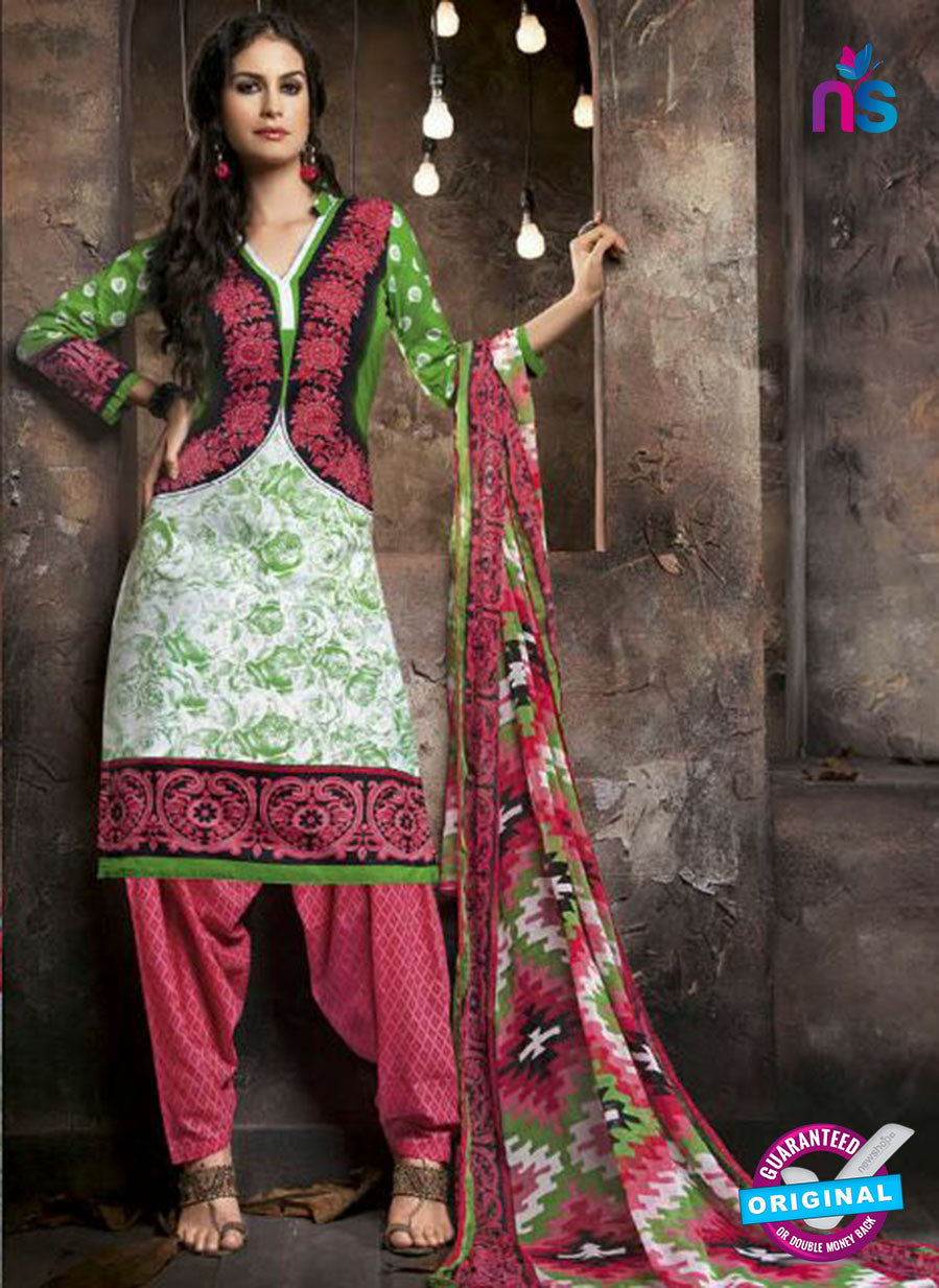 Kalakriti 912 Pink and White Cotton Party Wear Suit