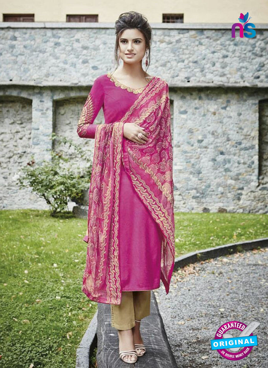 Bahni 9130 Pink Color Cotton Designer Suit