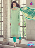 Bahni 9132 Sea Green Color Glace Cotton Plazo Suit