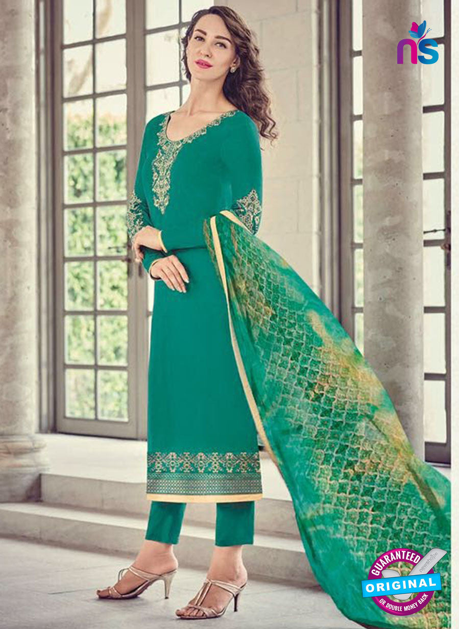 Bahni 9133 Sea Green Color Glace Cotton Plazo Suit