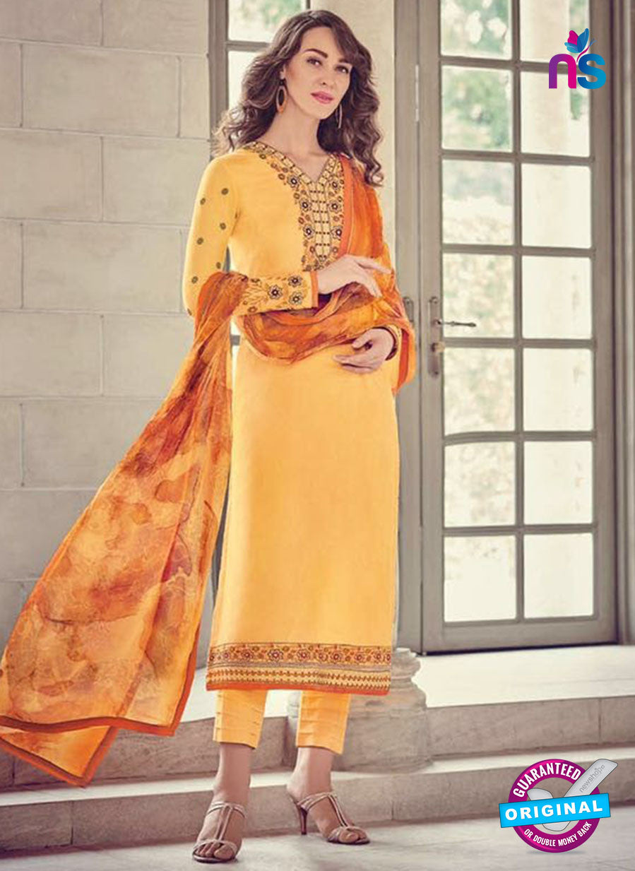 Bahni 9137 Yellow Color Glace Cotton Plazo Suit