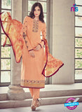 Bahni 9138 Peach Color Glace Cotton Plazo Suit