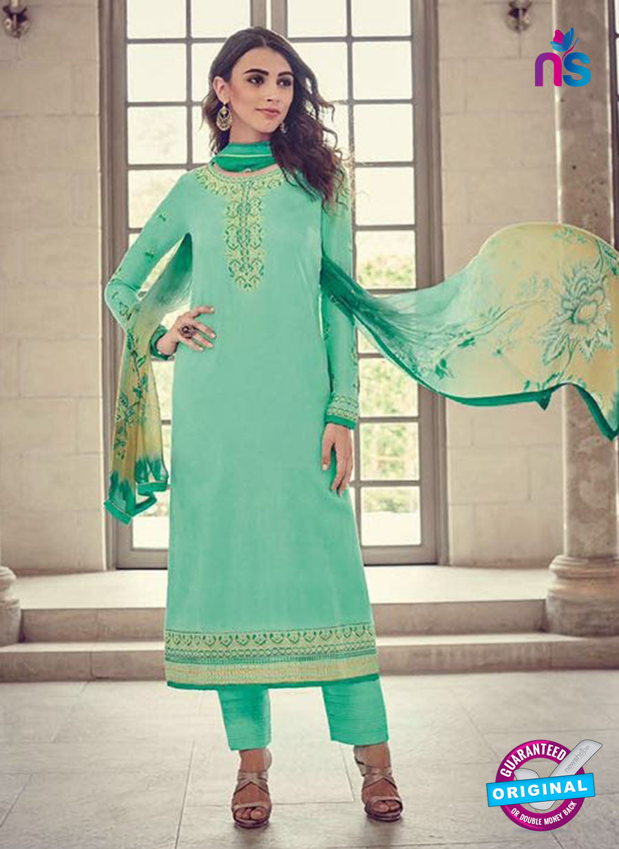 Bahni 9141 Sea Green Color Glace Cotton Plazo Suit