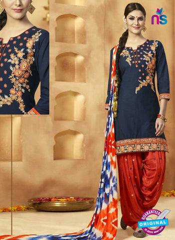 Kessi 9151 Blue Cotton Patiala Suit