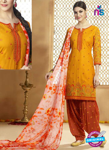 Kessi 9152 Yellow Cotton Patiala Suit