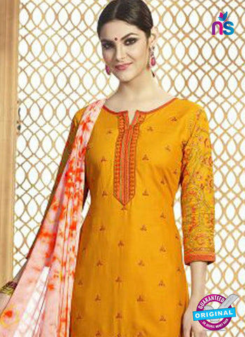 Yellow Cotton Patiala Suit