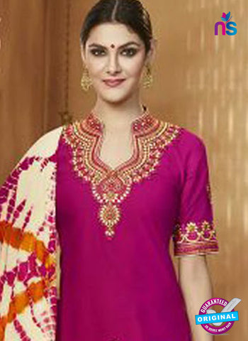 Magenta Cotton Patiala Suit