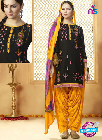 Kessi 9154 Black Cotton Patiala Suit