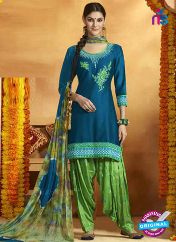 Kessi 9155 Sky Blue Cotton Patiala Suit