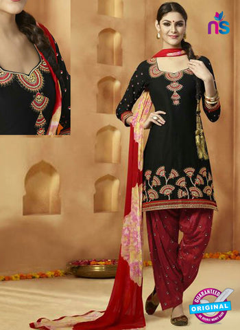 Kessi 9156 Black Cotton Patiala Suit