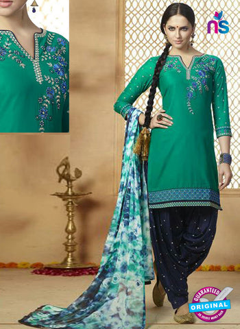 Kessi 9157 Sea Green Cotton Patiala Suit