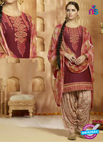 Kessi 9158 Maroon Cotton Patiala Suit