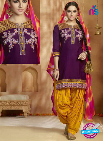 Kessi 9160 Purple Cotton Patiala Suit