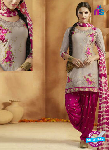 Kessi 9161 Grey Cotton Patiala Suit