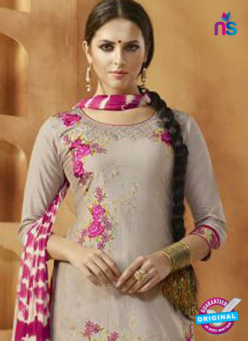 Grey Cotton Patiala Suit