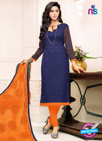 SC 42216 Blue Formal Cotton Suit