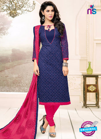 SC 42217 Blue Formal Cotton Suit