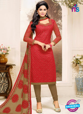 SC 42218 Red Formal Cotton Suit