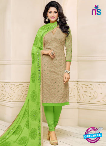 SC 42221 Beige Formal Cotton Suit