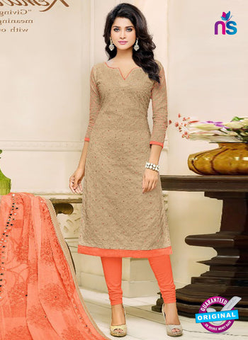 SC 42222 Beige Formal Cotton Suit