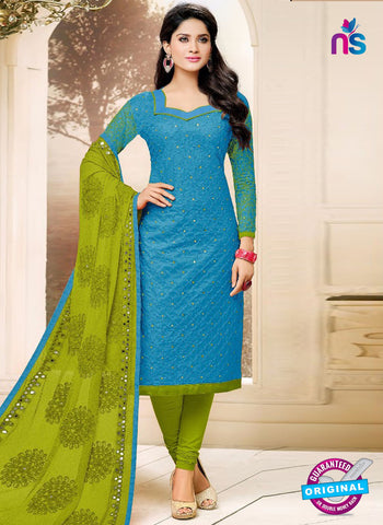 SC 42242 Sky Blue Formal Cotton Suit