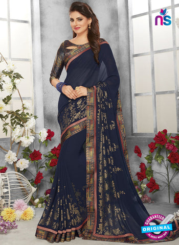 Life Style 9262 Blue Formal Saree