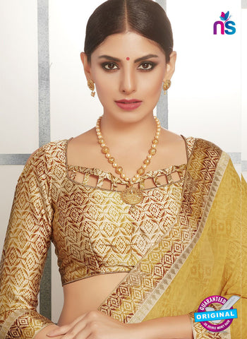 Life Style 9265 Yellow Formal Saree
