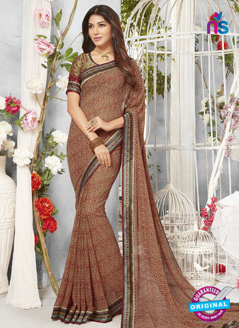 Life Style 9267 Brown Formal Saree