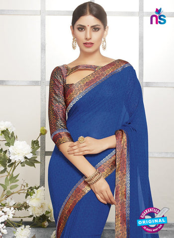 Life Style 9269 Blue Formal Saree