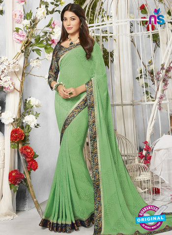 Life Style 9270 Green Formal Saree