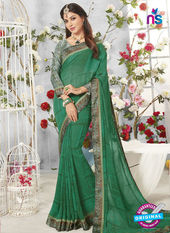 Life Style 9272 Green Formal Saree