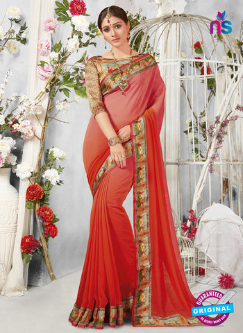 Life Style 9276 Red Formal Saree