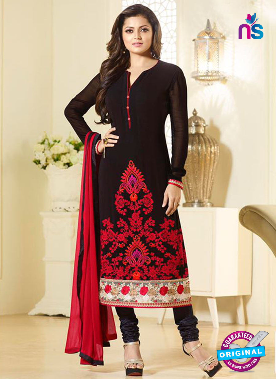 LT 94003 Black Georgette Party Wear Suit