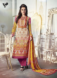 NS11675  Beige & Yellow Color Satin Cotton Designer Suit